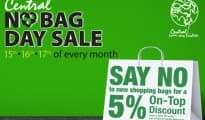 Central NO BAG DAY SALE