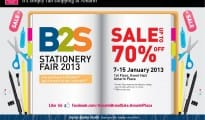 B2S Stationery Fair 2013 Sale up to 70 off