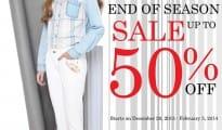 Blue Corner End of Season Sale