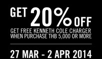 Special Promotion for Kenneth Cole Flagship CentralWorld