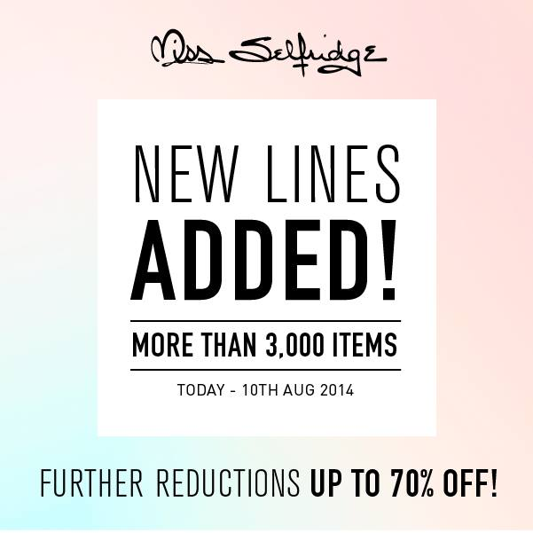 Miss Selfridge SS14 End of Season Sale