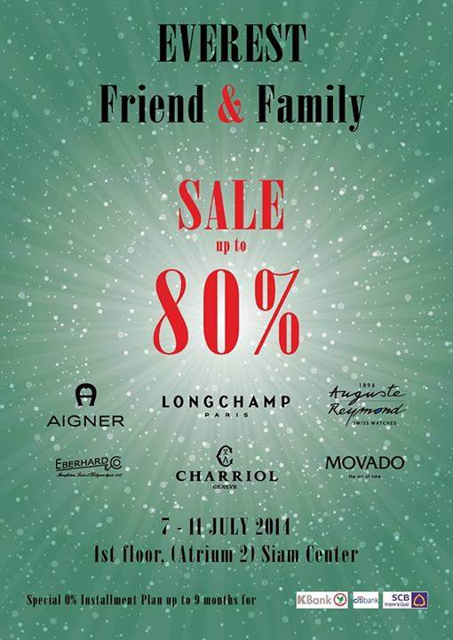 Everest Friend & Family Sale
