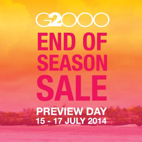 G2OOO End of Season Sale