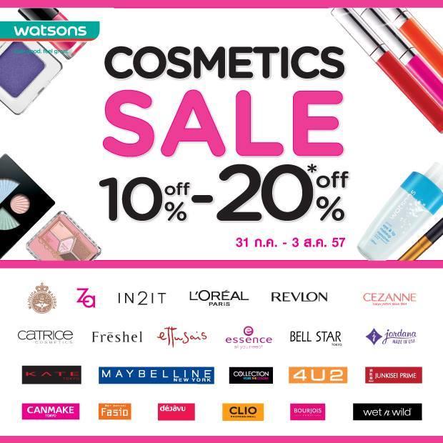 Watsons Cosmetics Sale