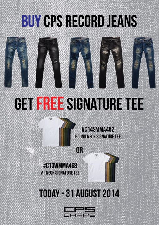 BUY CPS RECORD JEANS GET FREE SIGNATURE TEE