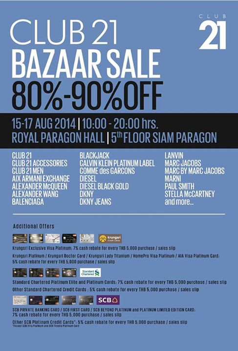 Club21 Bazaar Sale