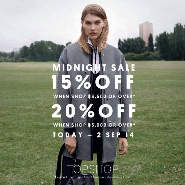 TOPSHOP Midnight Sale