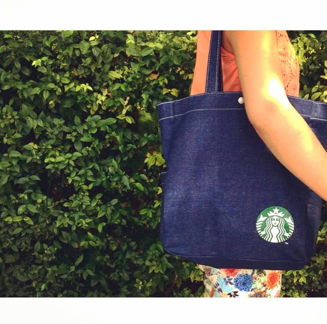 Starbucks Denim Bag