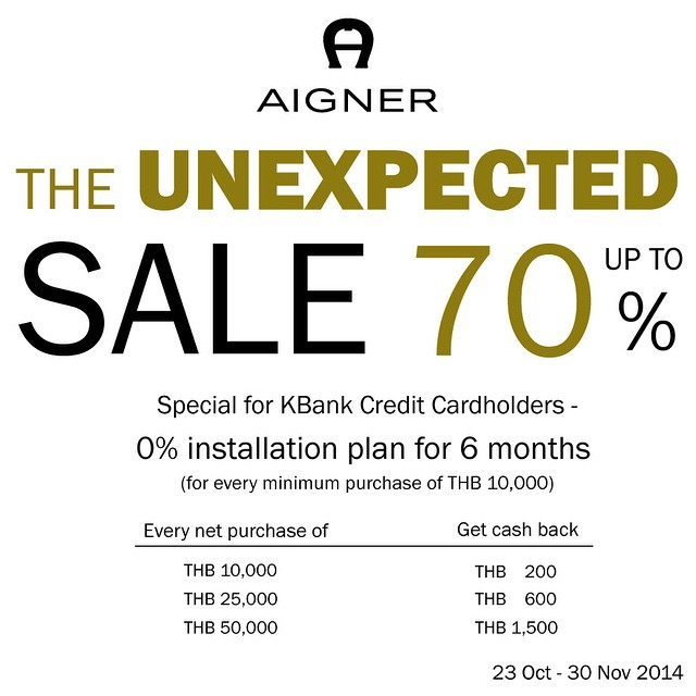 AIGNER The Unexpected Sale