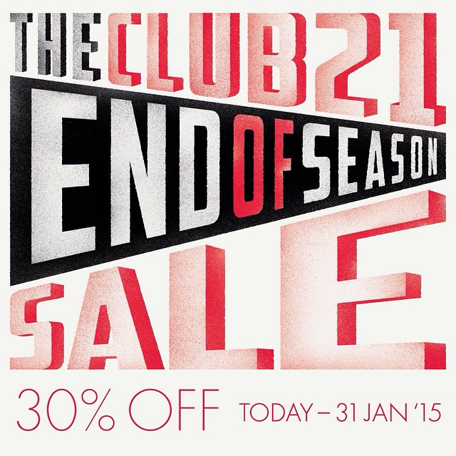Club 21 End of Season Sale