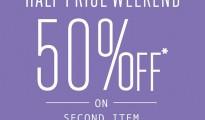 TOPSHOP Half price weekend