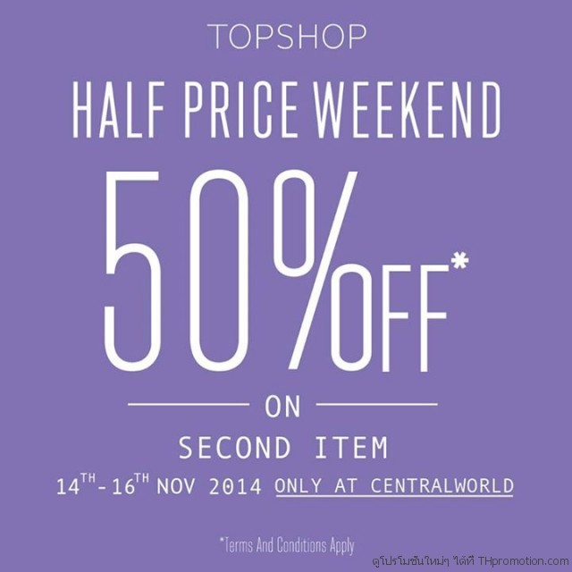 TOPSHOP Half price weekend