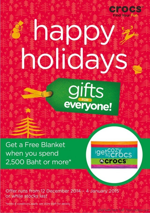 Crocs Happy Holidays Gifts for everyone