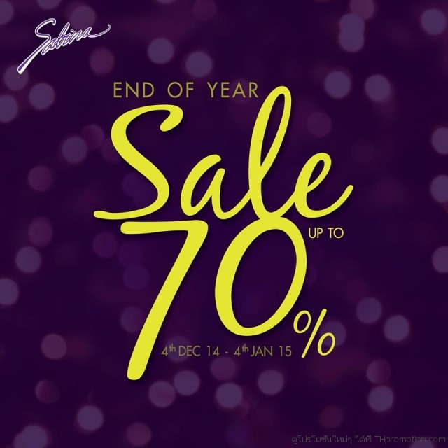Sabina End of Year Sale