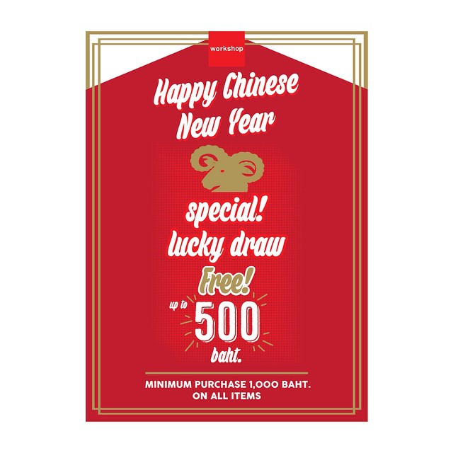 Workshop Happy Chinese New Year special lucky draw