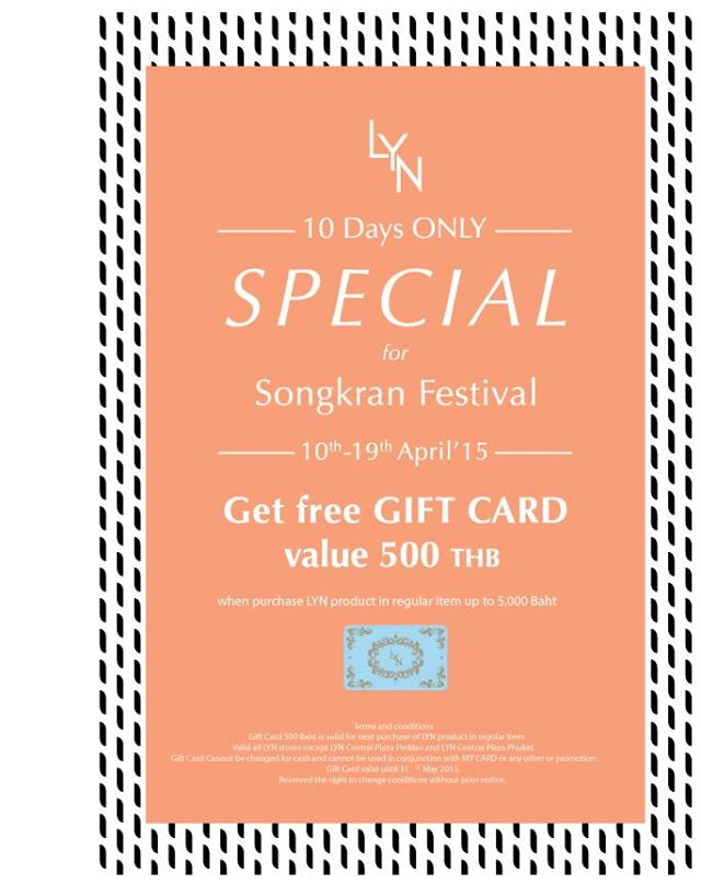 LYN 10 Days only special  for Songkran Festival