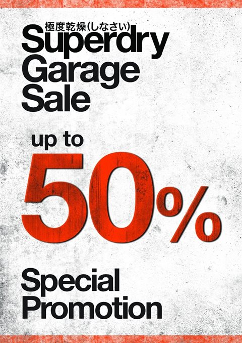 SUPERDRY GARAGE SALE