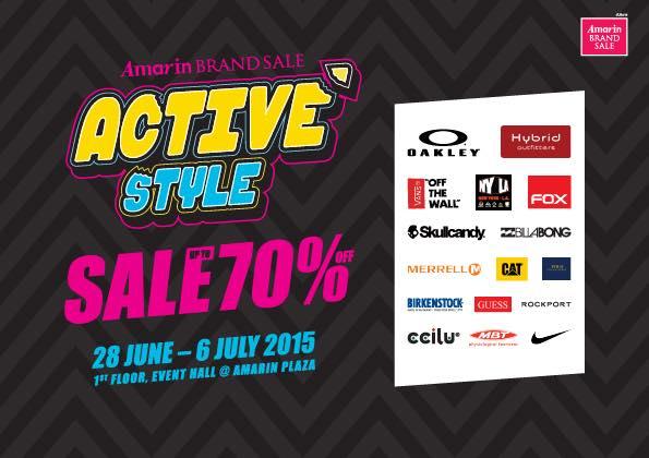 "Amarin Brand Sale ""Active Style"""