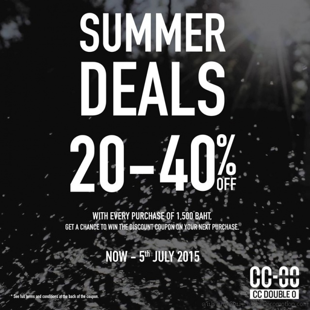 CC DOUBLE O SUMMER DEALS