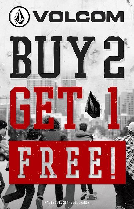 Volcom Buy 2 Get 1 Free
