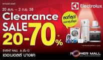Electrolux Clearance Sale