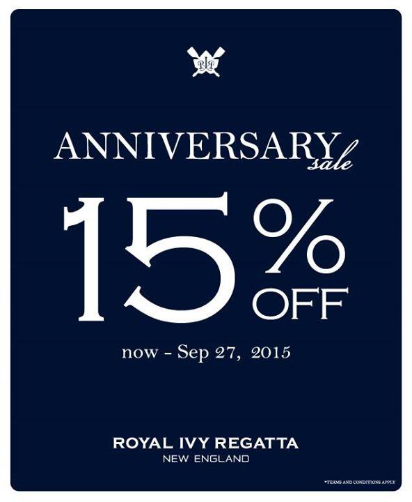 Royal Ivy Regatta Anniversay Sale