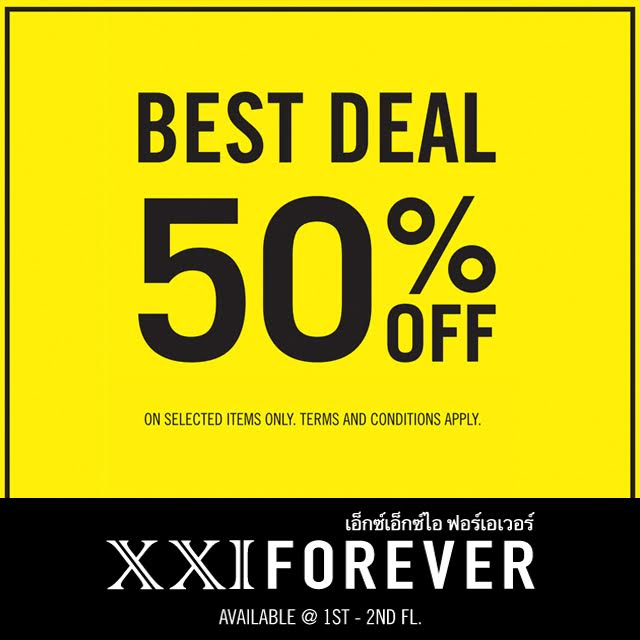 XXI FOREVER Best Deal Discount