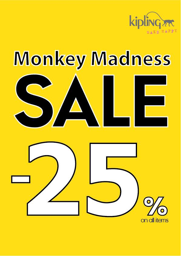 Kipling Thailand Monkey Madness Sale