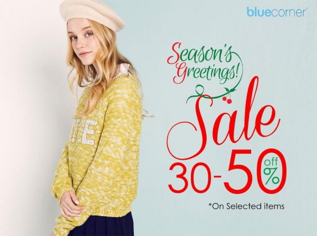 Blue Corner Season's greeting sale
