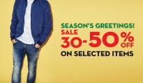 Celio Season's greeting sale