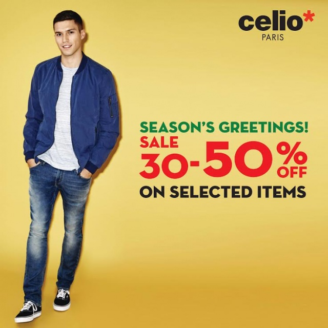 Celio Season's greeting sale