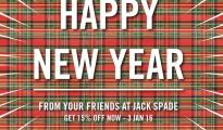 Jack Spade Happy New Year