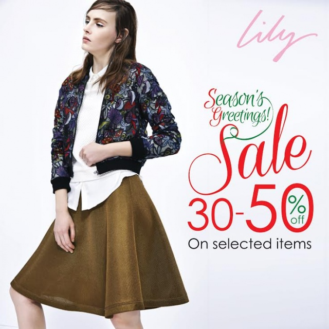 Lily Season's greeting sale