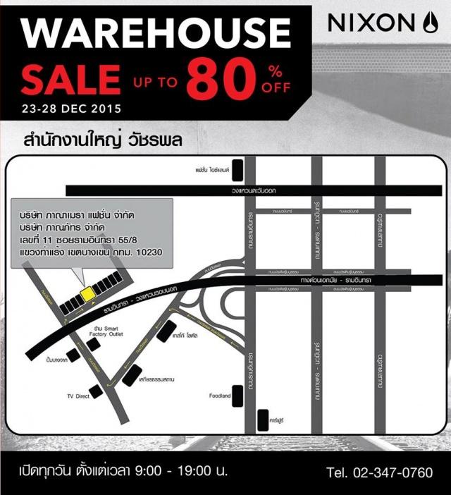 NIXON WAREHOUSE SALE map