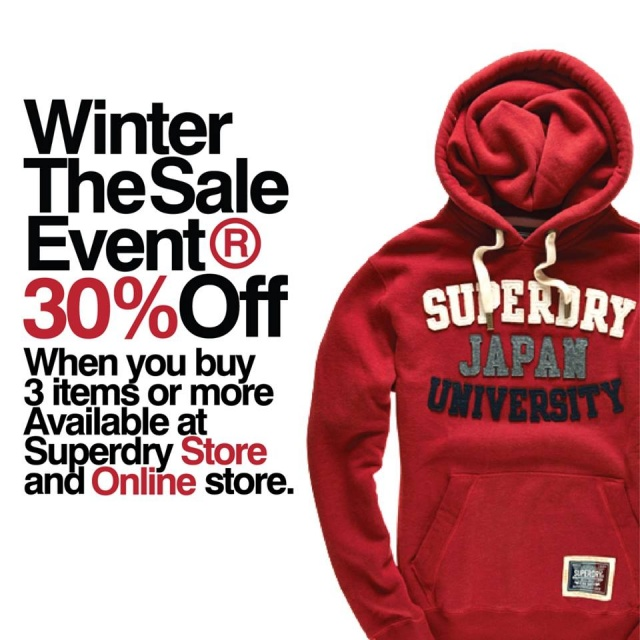 Superdry Winter The Event Sale
