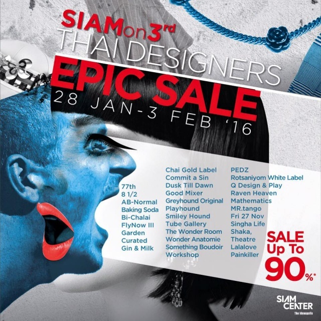 Siam On 3rd Thai Designers Epic Sale