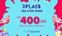 Accessorize Splash the cash back