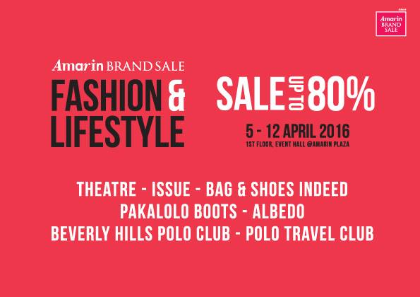 "Amarin Brand Sale ""Fashion & Lifestyle Sale"""