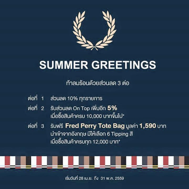Fred Perry Summer Greetings