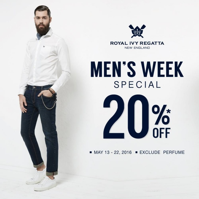Royal Ivy Regatta MEN'S WEEK SPECIAL