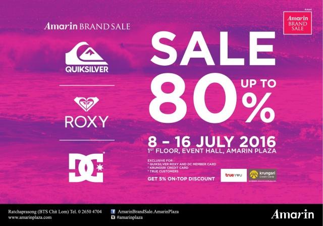 Amarin Brand Sale- Quiksilver Roxy & DC Sale