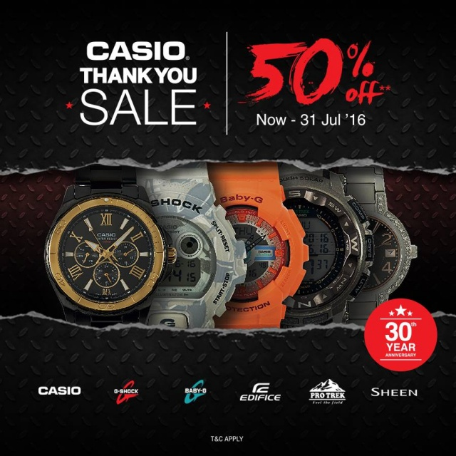 CASIO THANK YOU SALE