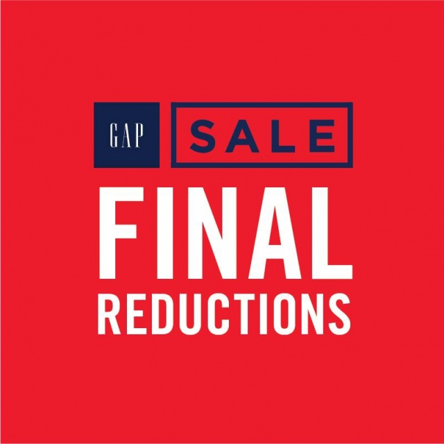 GAP FINAL REDUCTIONS SALE