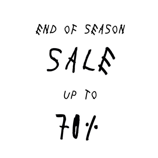 Workshop End of Season Sale