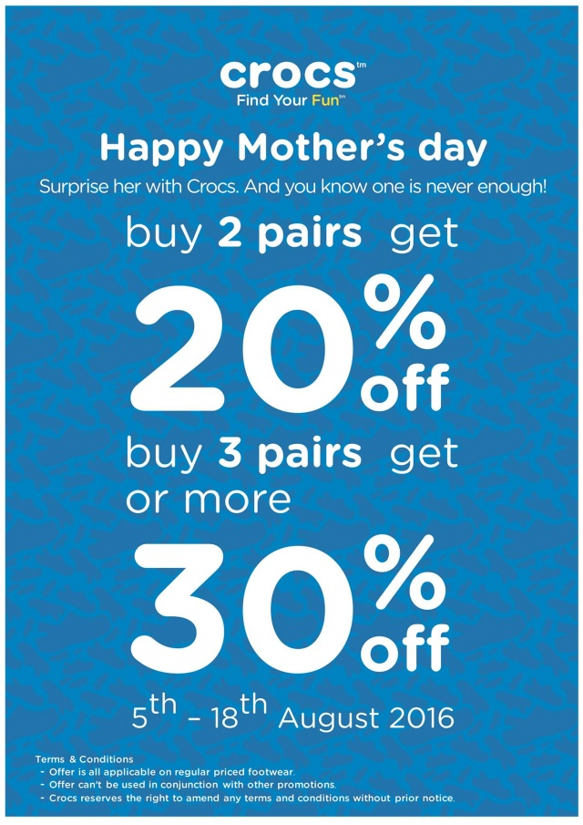 CROCS Happy Mother's day