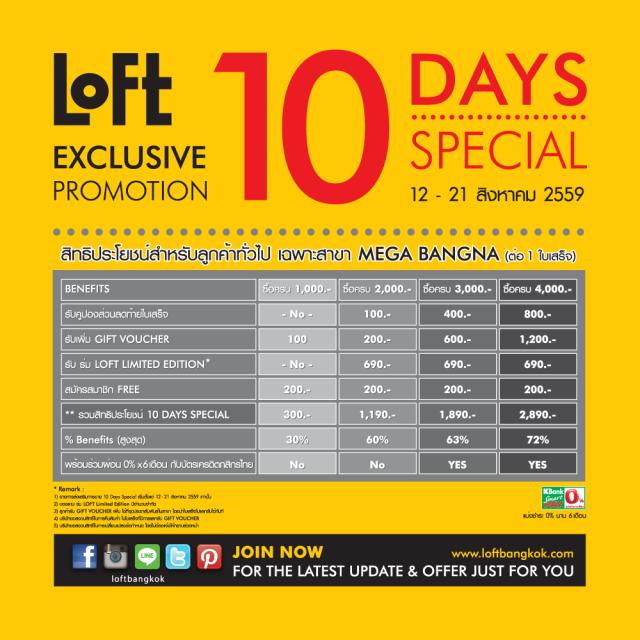 "Loft "" 10 Days Special"" 2"