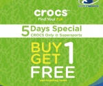 Crocs Buy 1 Get 1 at Supersports