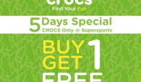 Crocs Buy 1 Get 1 at Supersports