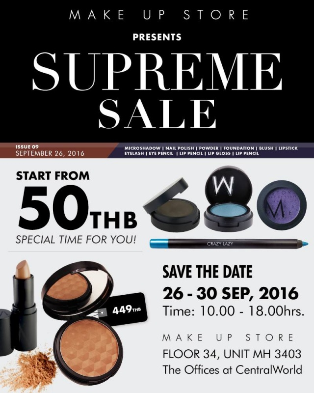 "Make Up Store ""SUPREME SALE"" 1"