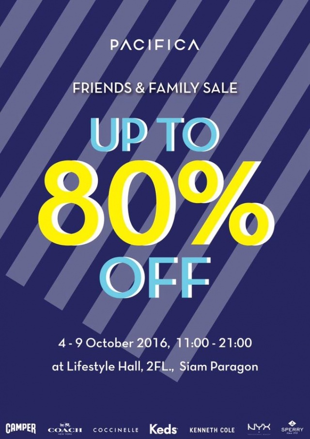 PACIFICA Friends & Family Sale 2016